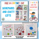 FREE Valentine's Day Printable Gifts: Bookmarks and Crafty