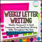 FREE Weekly Letter Writing Homework