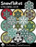Snowflakes Clip Art ~ Commercial OK ~ Winter