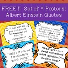 **FREEBIE**  Albert Einstein Quotes Poster Set