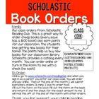 *FREEBIE* Book Order Parent Info Sheet