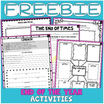 FREEBIE: End of Year Activities