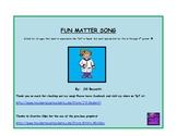 FREEBIE:  Fun Matter Song:  Science Songs