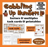 Gobbling Up Numbers - factors and multiples task cards & p