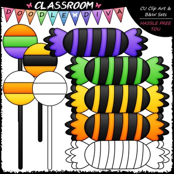 FREEBIE Halloween Treats Clip Art - Halloween Clip Art - CU Clip Art & B&W