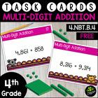 {FREEBIE} Multi-Digit Addition {Math Task Cards}
