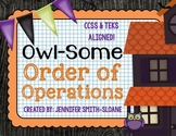 FREEBIE Owl-Some Order of Operations Match-Up (with powers)