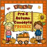 FREEBIE! Pre- K Autumn Time Concepts