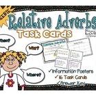 FREEBIE Relative Adverb Task Cards {CCSS L.4.1.A}