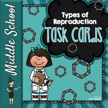 Sexual & Asexual Reproduction - 16 Task Cards