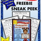 FREEBIE SNEAK PEEK: 2nd Edition Kindergarten Daily Skills