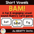 *FREEBIE* Short Vowel Word Game - BAM!