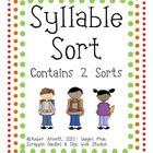 {FREEBIE} Syllable Sort! A Cut & Paste Activity