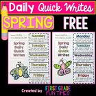 WRITING - Spring Quick Writes FREEBIE