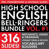 FULL YEAR of English Class Vocabulary, Grammar, and Litera