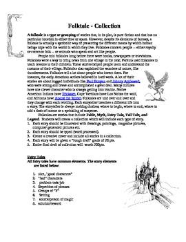 Fable, Myth, Fairy Tale, Tall Tale, and Legend Creative Wr