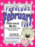 Fabulous February Fun ~ Winter Math Printables Color By Th