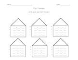 Fact Families worksheet - blank