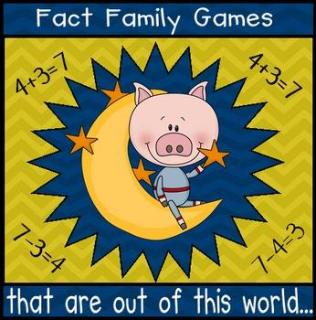 Fact Families Math Centers (Go Math! / Common Core aligned)