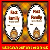 Fact Families... November  Booklets