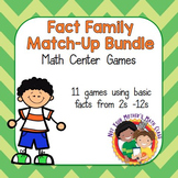 Multiplication & Division Fact Family Match Up Bundle