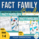 Fact Family Triangles - Four Operations Bundle