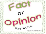 Fact and Opinion Key Words