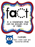 """Fact and Opinion Posters and """"I have, Who has?"""" lesson"""