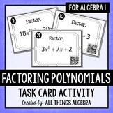 Factoring Polynomials Task Cards - with or without QR Codes