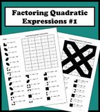 Factoring Quadratic Expressions Color Worksheet #1