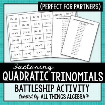 Factoring Trinomials (a > 1) - Battleship Partner Activity!