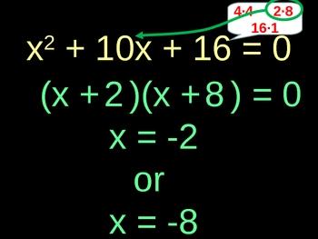 Factoring and Solving Polynomials - Trinomials