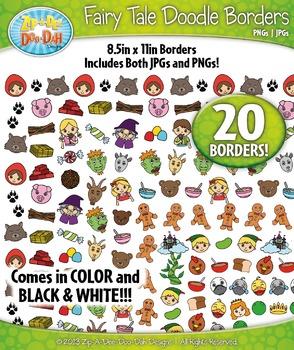 Fairy Tale Doodle Frame Borders Mega Bundle Pack — Includes 20 Graphics!