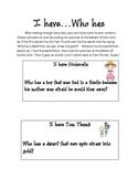 Fairy Tales:  I Have, Who Has Activity