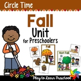 Fall Preschool Centers and Circle Time