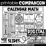 Fall Calendar Math Routines Script {free}