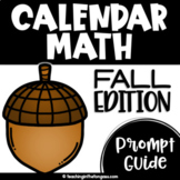 Fall Calendar Math Routines Script {freebie}