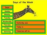 Fall Calendars (August - December) - Mimio - Kindergarten