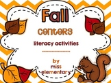 Fall Centers - {Literacy Activities}