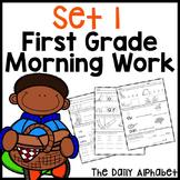 Fall First Grade Morning Work
