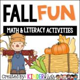 Fall Fun:  Math and Literacy Activities