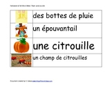 Affiche: Vocabulaire de l'automne et de l'Halloween / Post