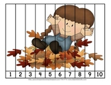 Fall Harvest Number Order and Skip Counting Puzzles