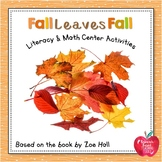 Fall Leaves Fall by Zoe Hall Lesson Plan and Activities