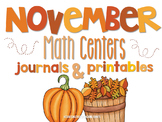 Fall Math Centers and Printables