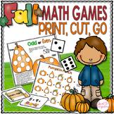 Math Games - Print, Cut, Go Fall Theme