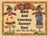 Fall Math and Literacy Center Fun!