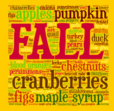 Fall Seasonal Ingredients Food Poster/Clip Art for Decor o