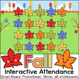 Fall Theme Interactive Attendance Sheet for Interactive Wh