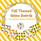 Fall Themed Game boards